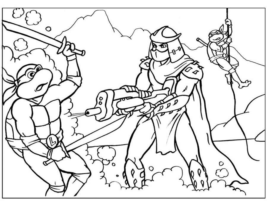 Teenage Mutant Ninja Turtles Coloring Pages. Print for free!