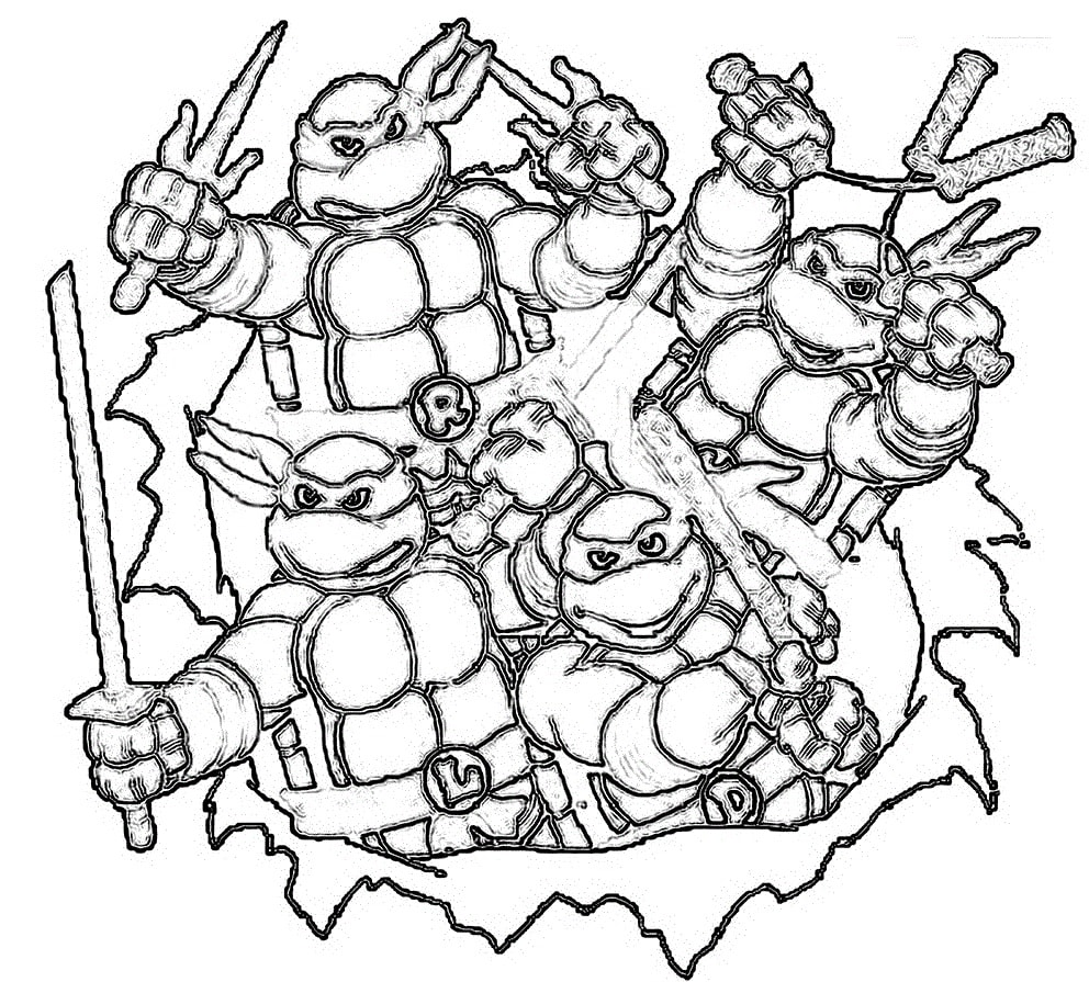 Teenage Mutant Ninja Turtles Coloring Pages. Print Them for ...
