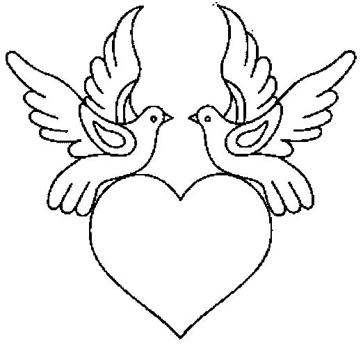 coloring page heart 27
