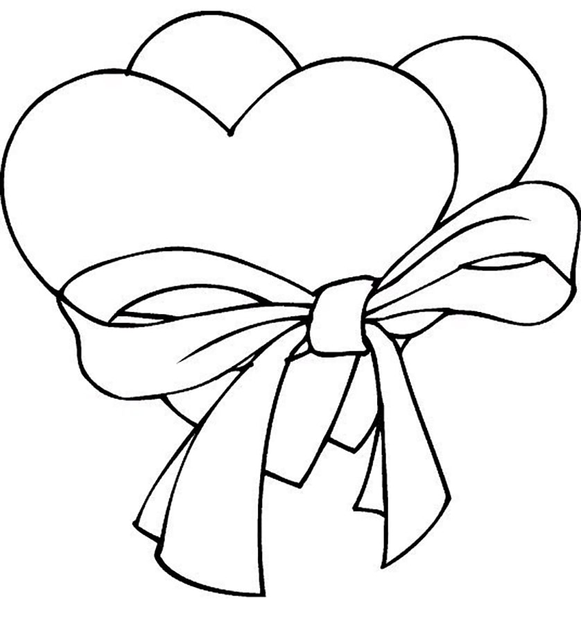 coloring page heart 30