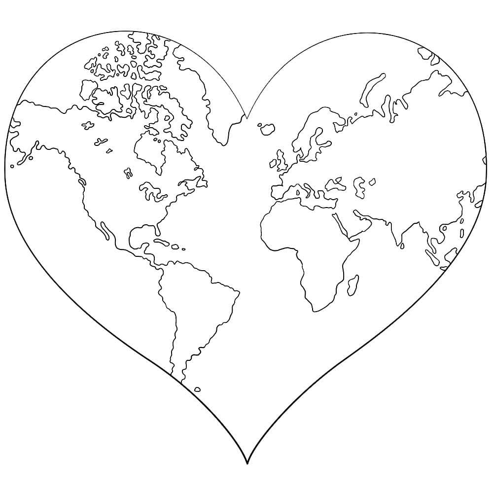 coloring page heart 34