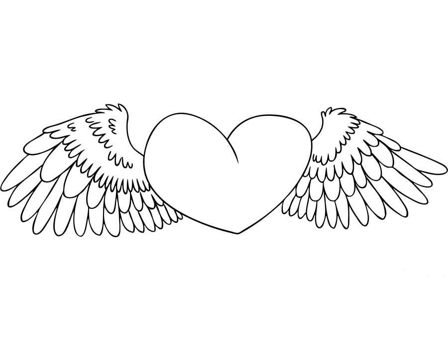 coloring page heart 59