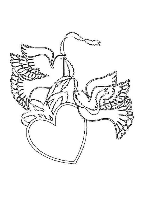 coloring page heart 67