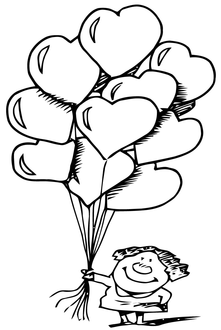 coloring page heart 74
