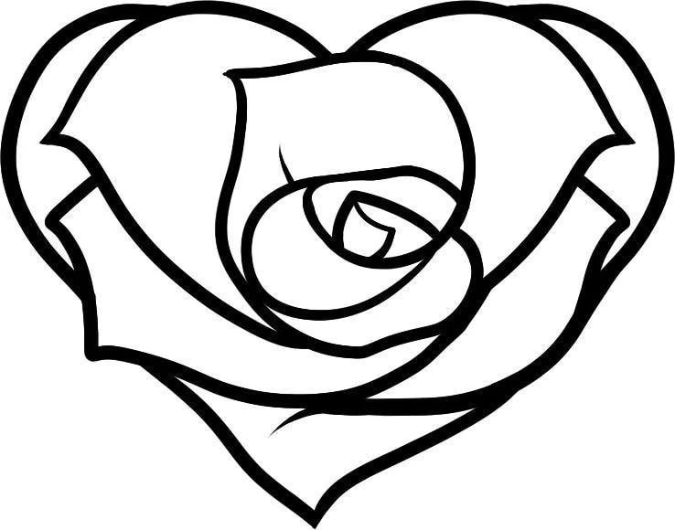 coloring page heart 82