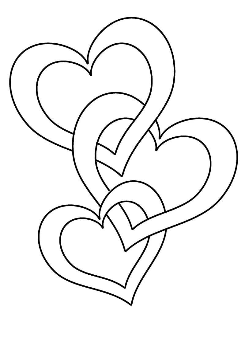 Heart Coloring Pages. 90 Pictures. Print Them for Free