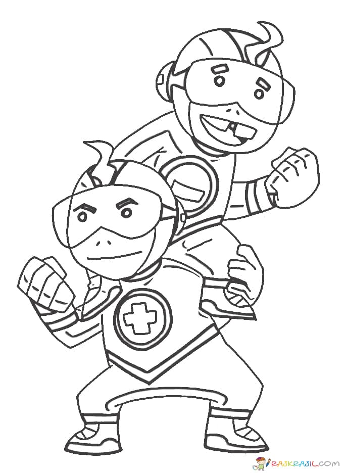 Раскраски Юные Титаны. Распечатайте супергероев
