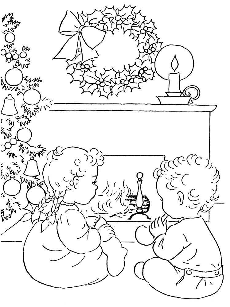Dibujos de Navidad para colorear. Descargar o imprimir gratis