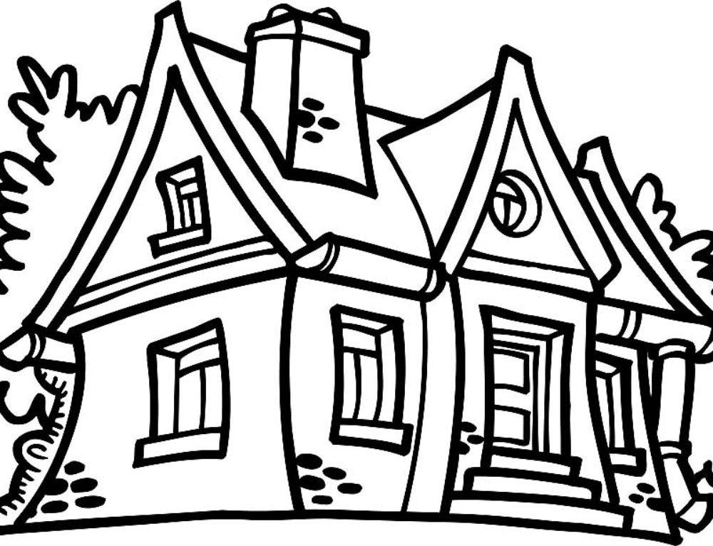 Ausmalbilder Haus. Bildersammlung für die Kreativität der Kinder