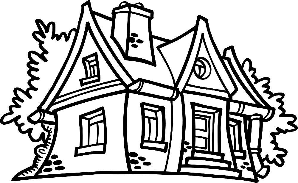 Дом, раскраски для детей. Коллекция картинок под творчество