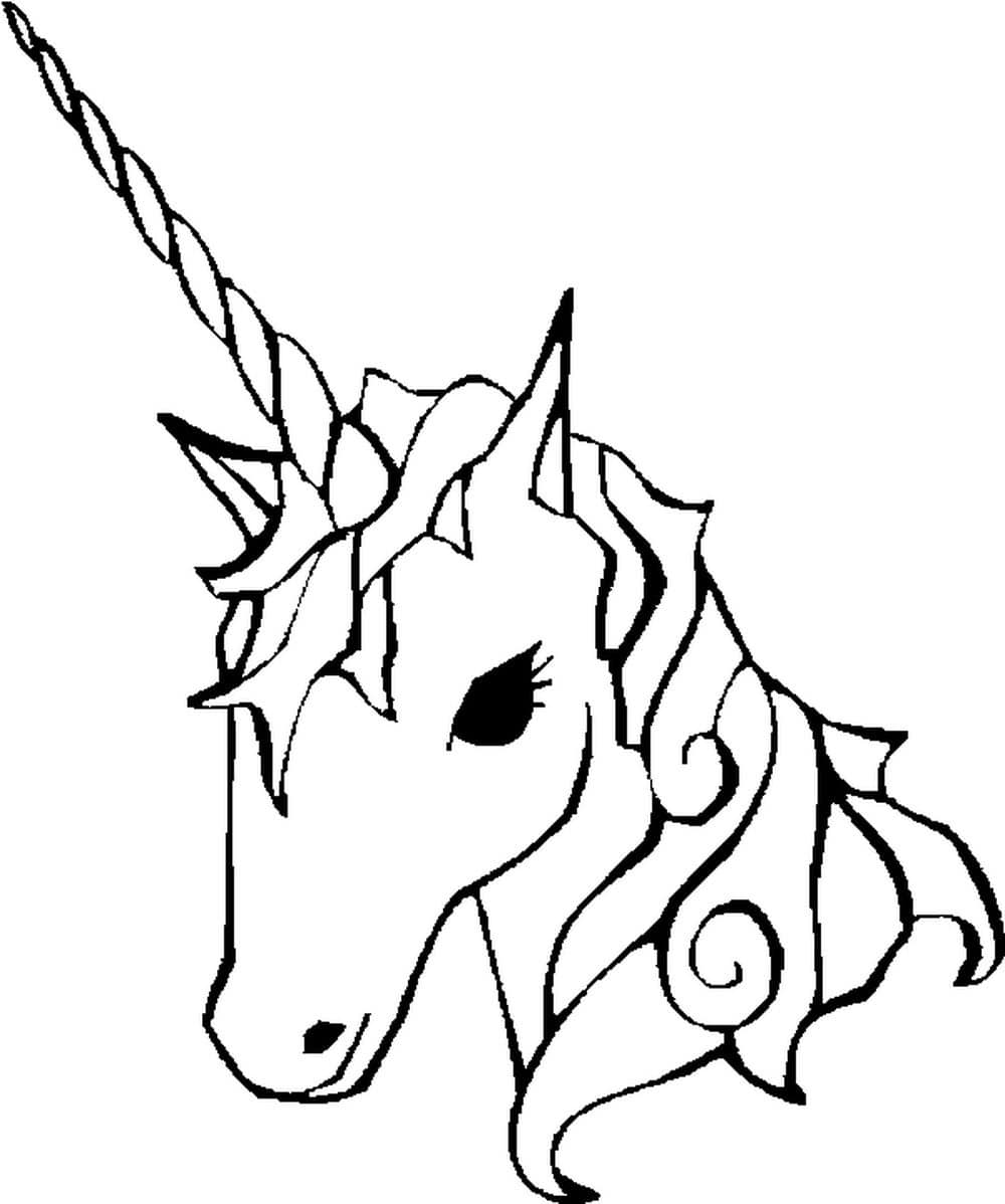 Unicorn coloring pages 100 black and white pictures print themonline