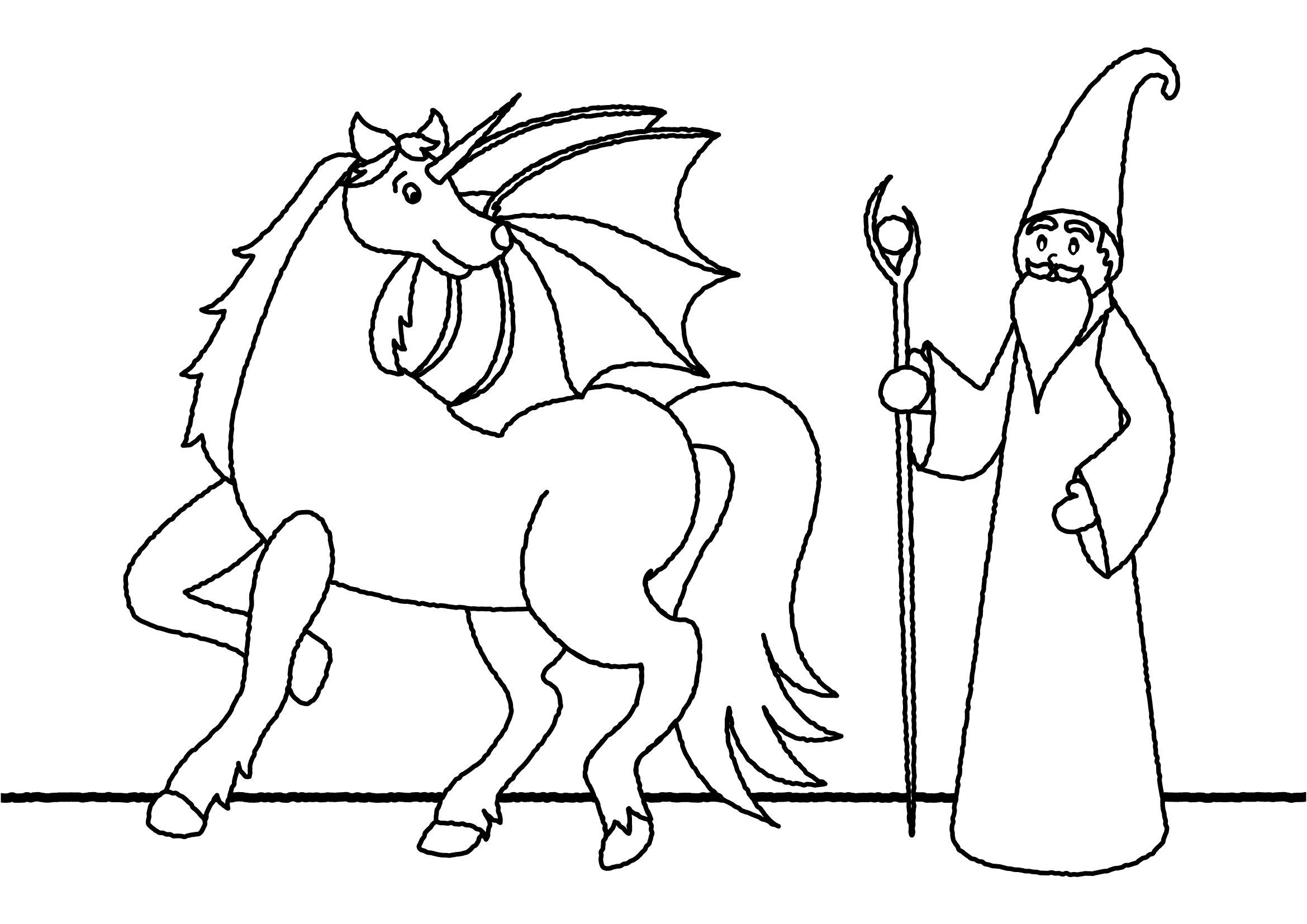 Unicorn Coloring Pages, 100 Black and White Pictures ...