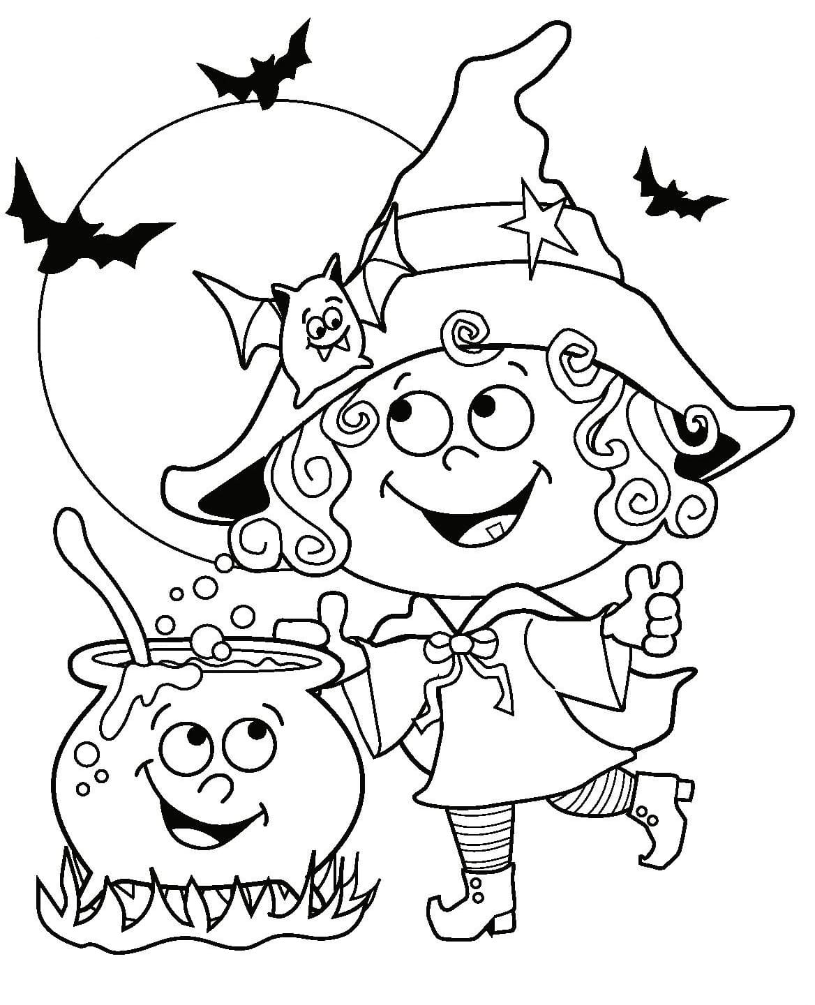 Halloween Coloring Pages For Kids 100 Pictures Print Them Online