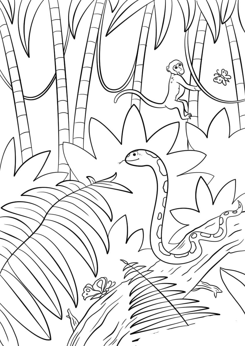 Landscape of the lake and mountains coloring page | Mountain ... | 1200x849