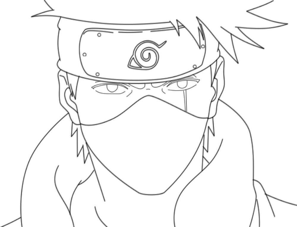 Kakashi Hatake Coloring Page. 43 best images Free Printable
