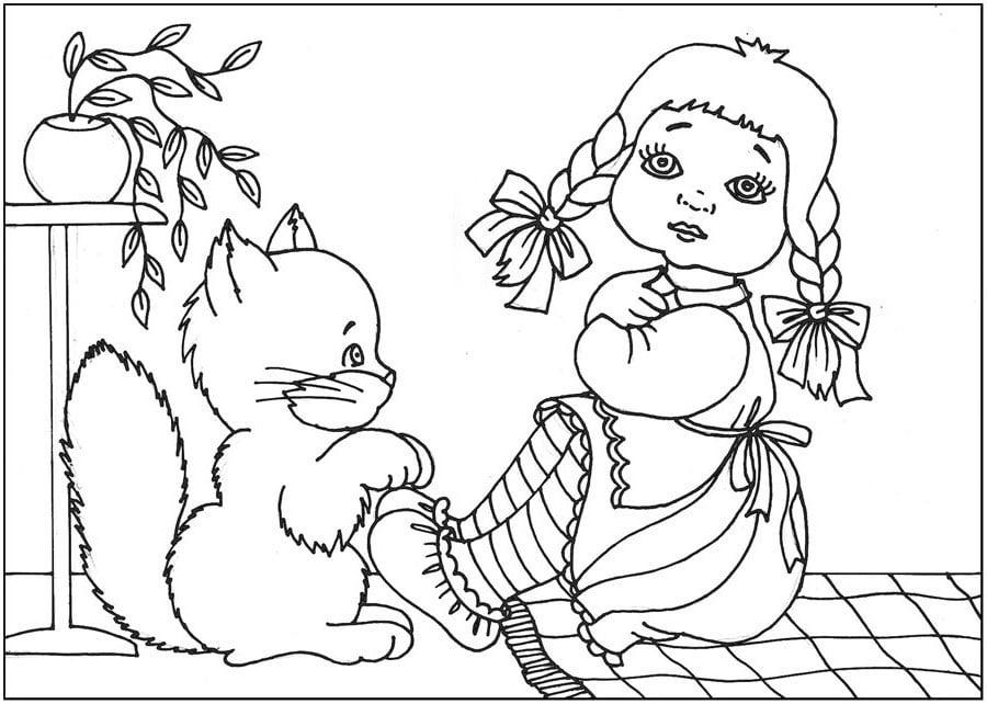 Картинки-раскраски для детей для детского сада. Более 100 штук!