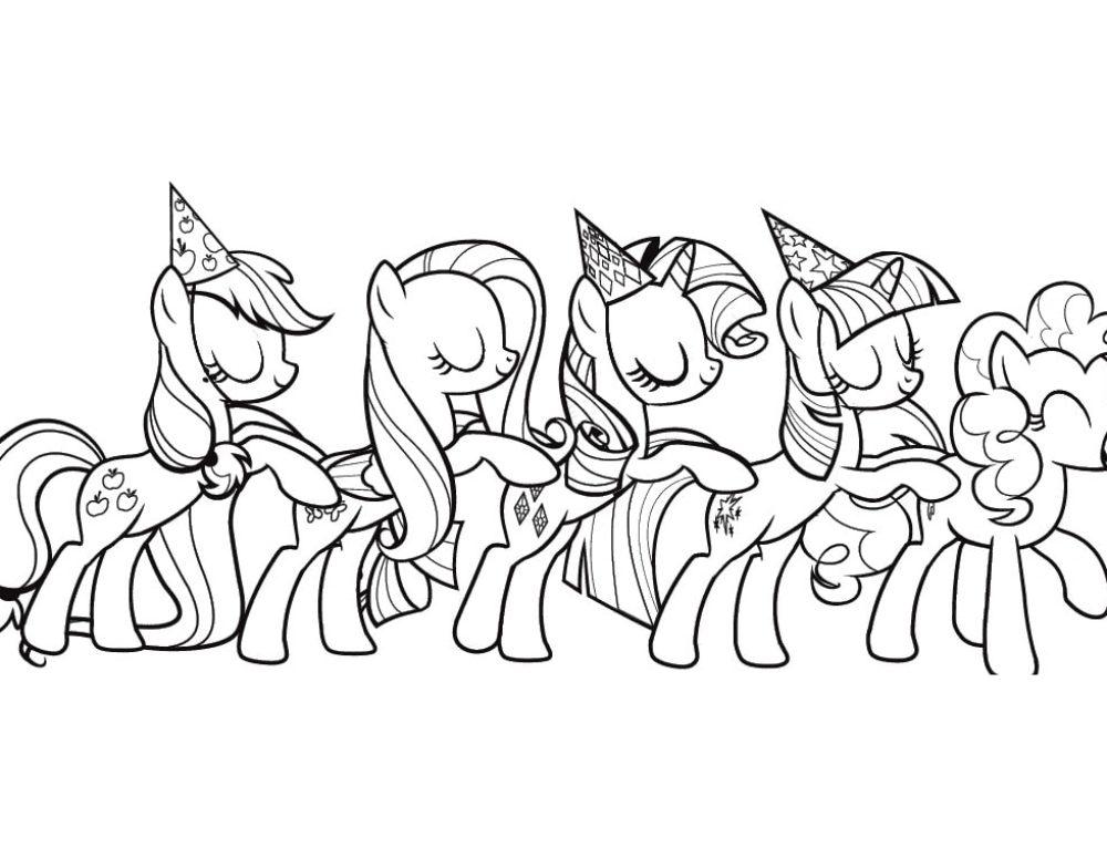 Dibujos de My Little Pony para Colorear. Imprime gratis,100imágenes