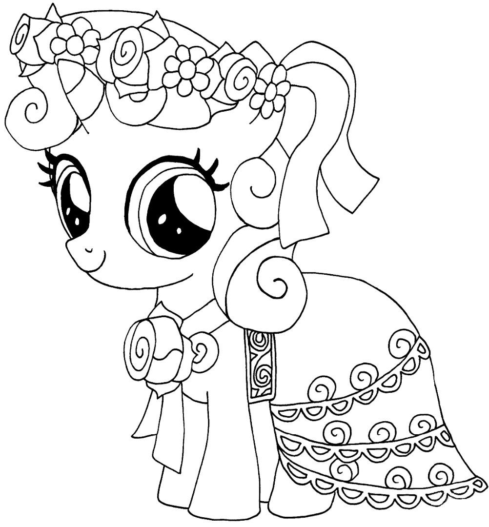 Ausmalbilder My little pony. Drucken Sie kostenlos online! 100 Stück