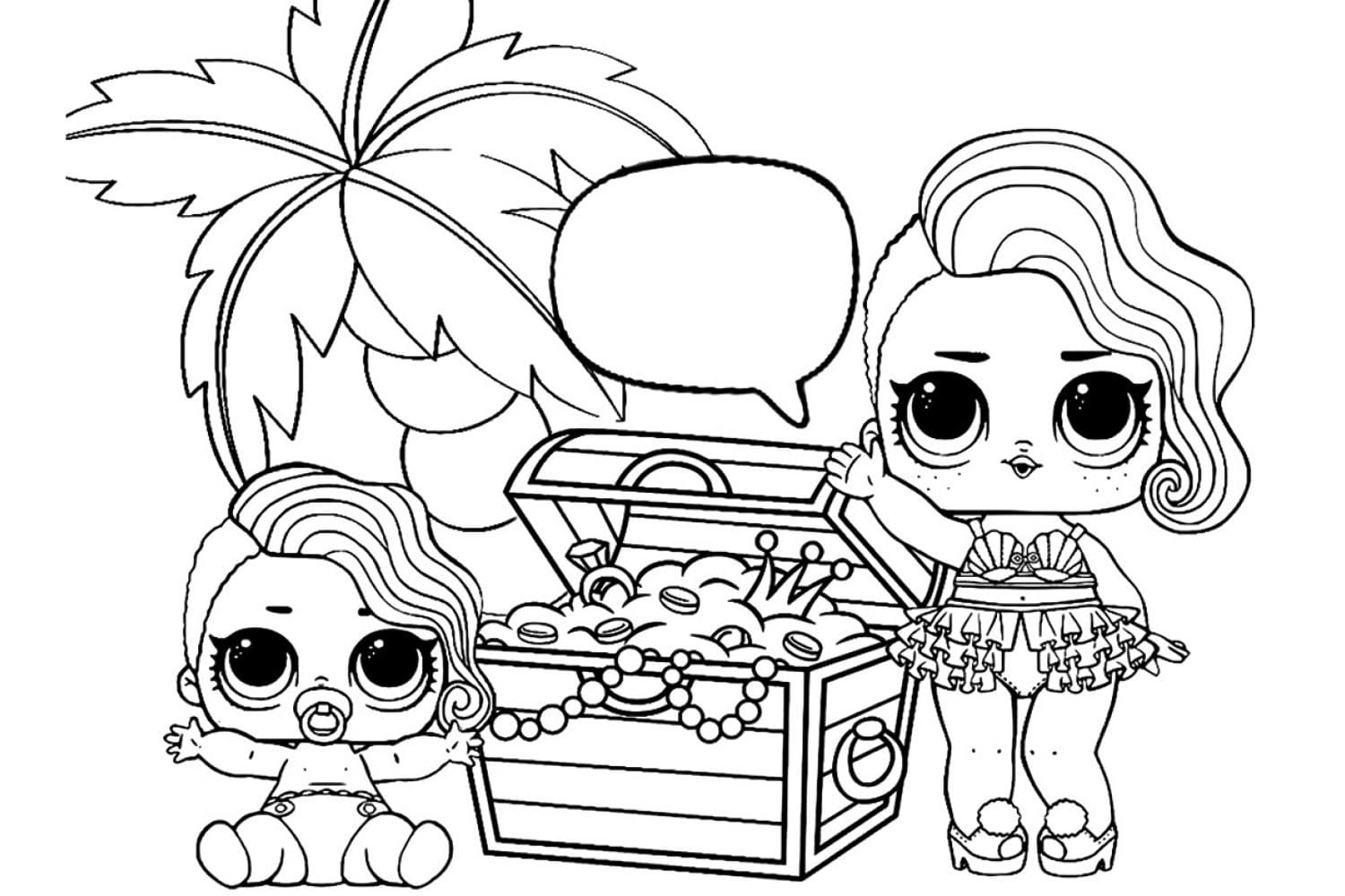 - LOL Surprise Dolls Coloring Pages. Print Them For Free! All The Series