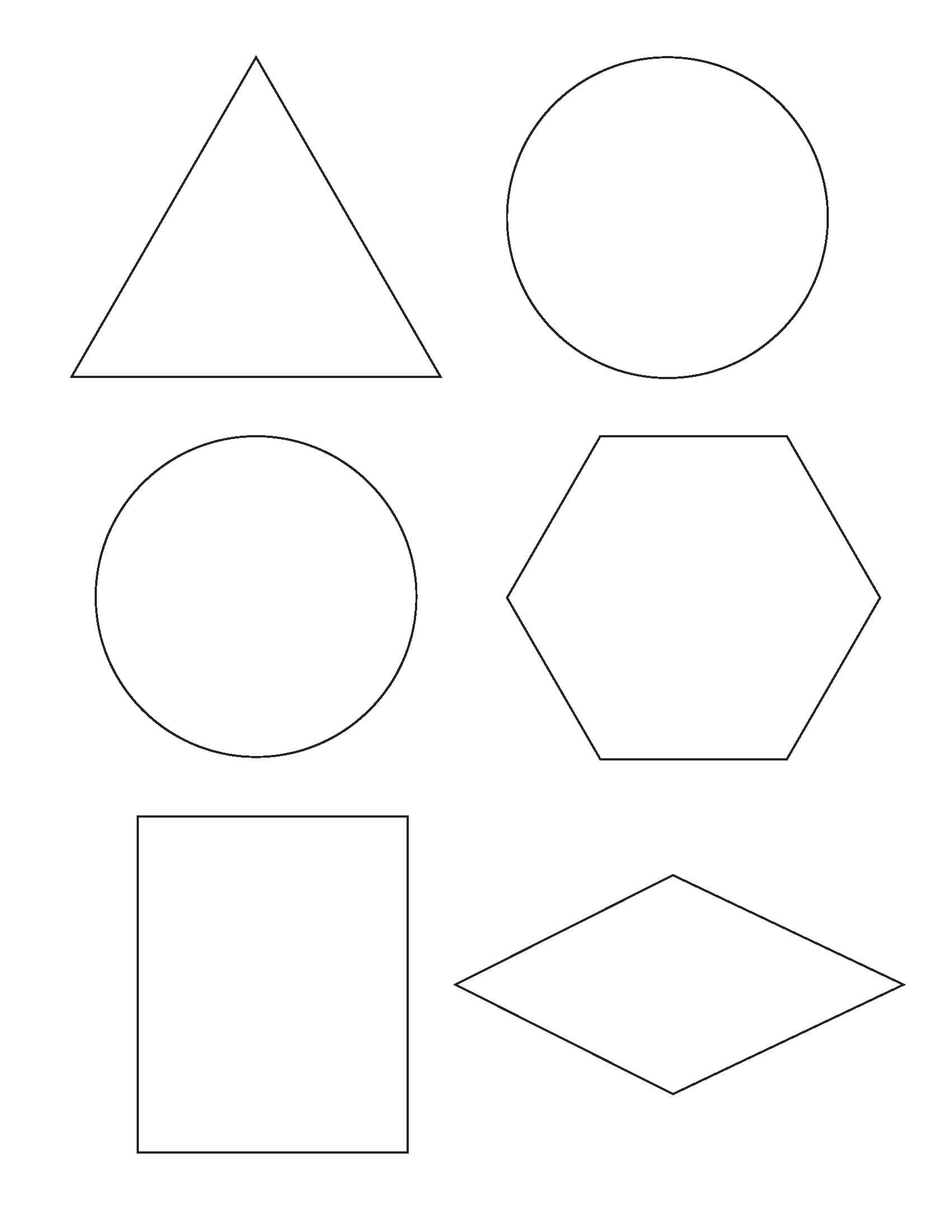 Картинки геометрических фигур для детей для вырезания