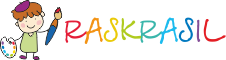 Раскраски на raskrasil.com Логотип
