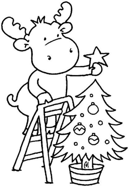 Coloring pages New Year. Download or print online.