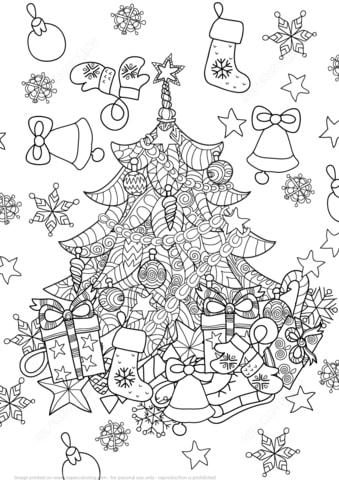 Раскраски на Новый год 2019! Скачайте или распечатайте онлайн
