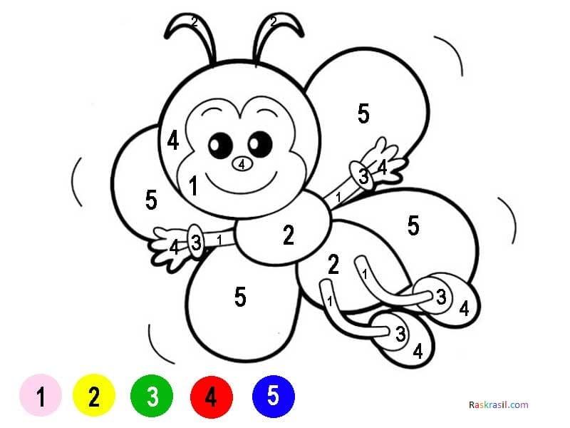 Раскраски по номерам для детей, 105 развивающих картинок. Распечатайте онлайн