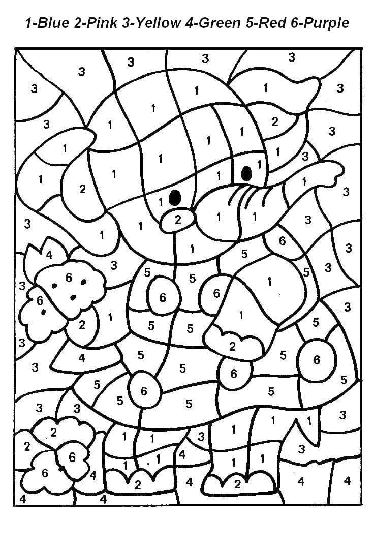 раскраски по номерам для детей 105 каринок распечатайте онлайн