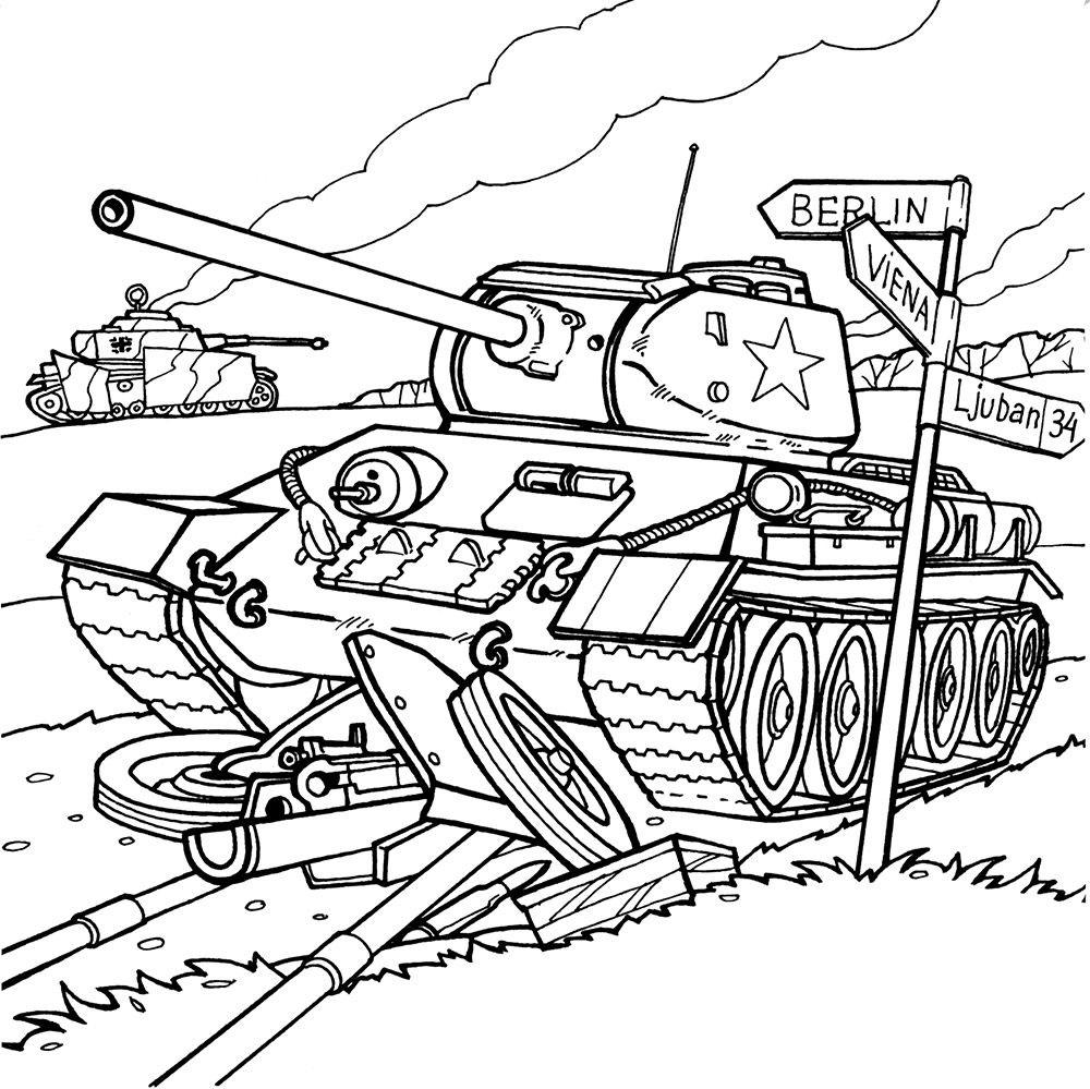 Раскраски на 9 мая, День Победы. Большая коллекция для детей!