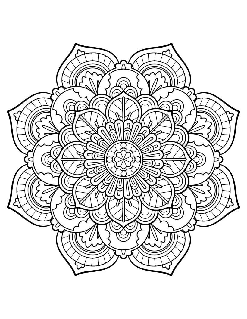 Anti stress Coloring Pages Patterns. Print online, 100 pieces
