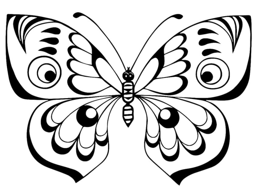 Coloriage De Papillons Pour Enfants 100 Images Imprimer Gratuitement