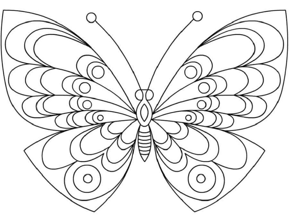 Coloring Pages of Butterflies for Kids, 100 Images. Print for Free!