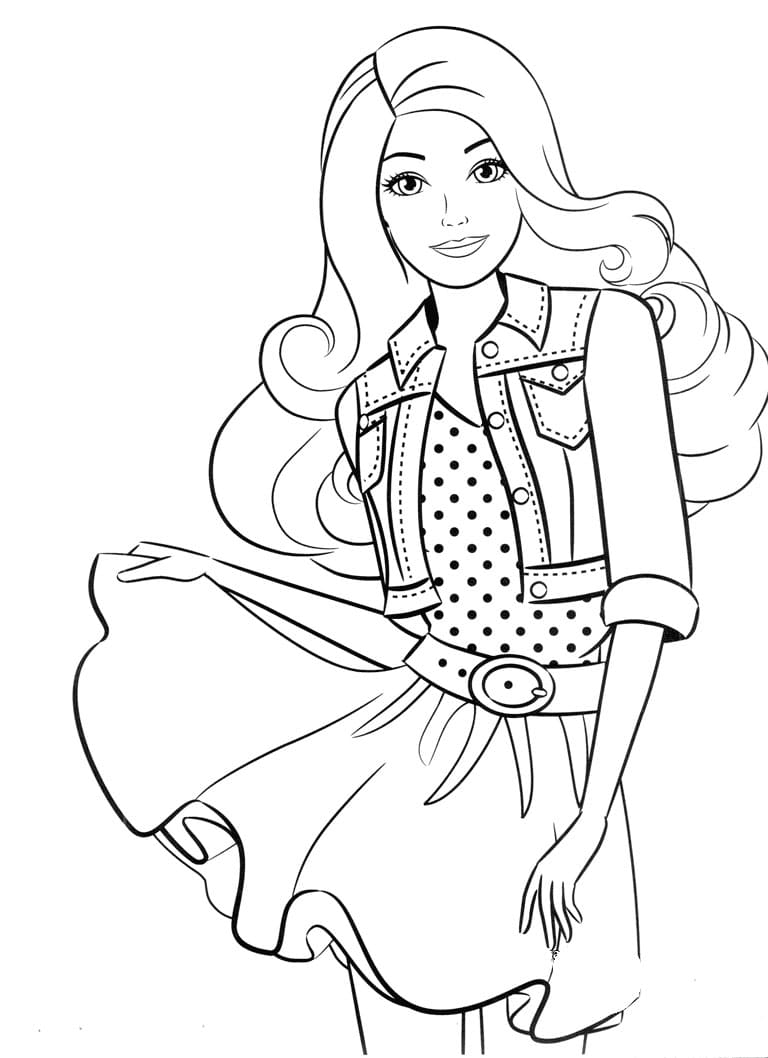 Barbie Coloring Pages Print For Free 100 Pictures