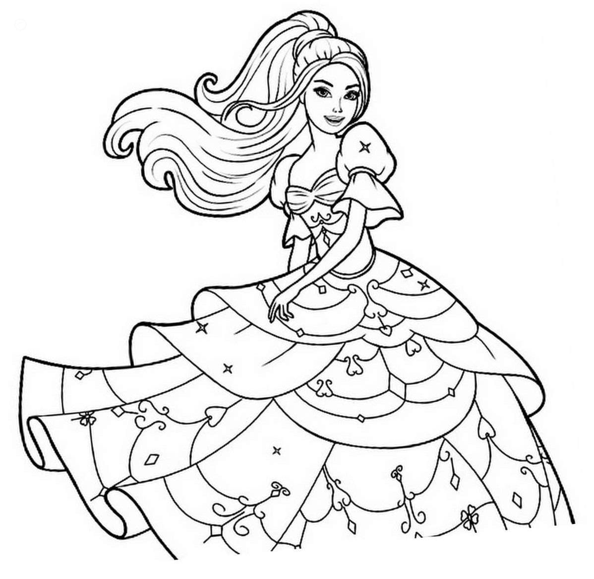 Barbie Images Free Download - Coloring Home | 1166x1198