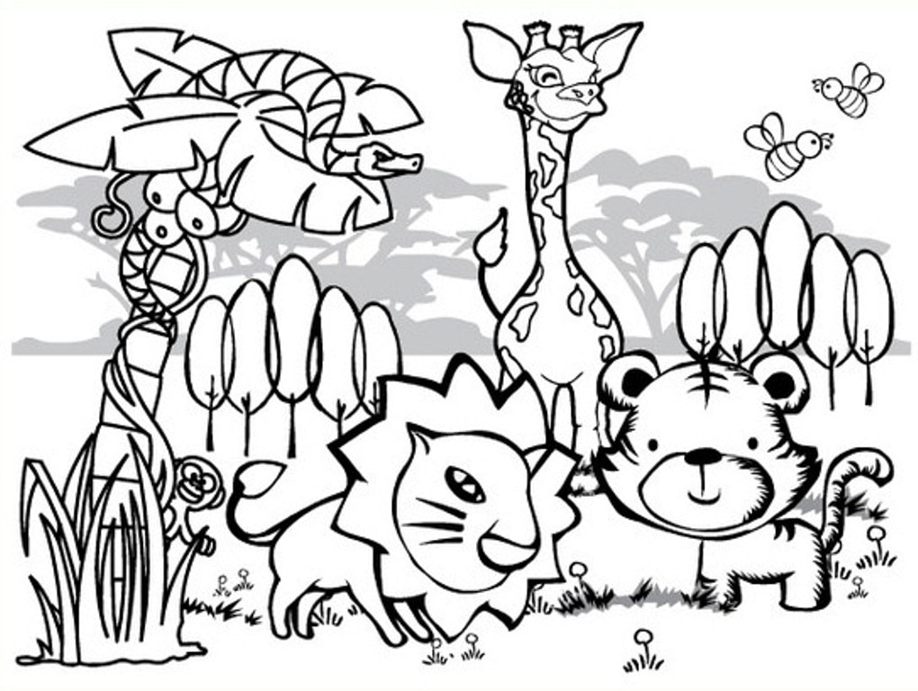 - Wild Animals Coloring Pages 70 Images Free Printable