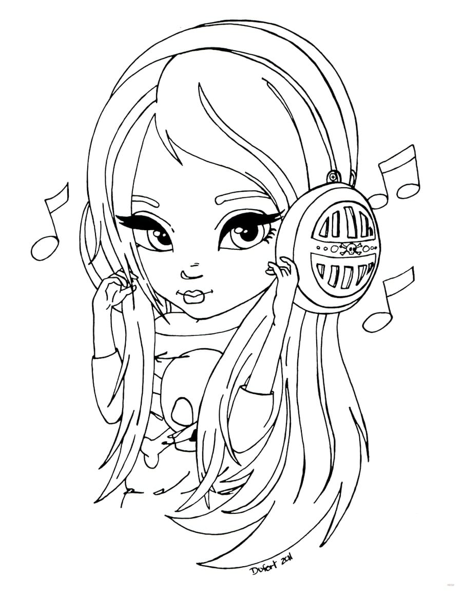 Coloring pages for girls 7 years old. Download or print for free