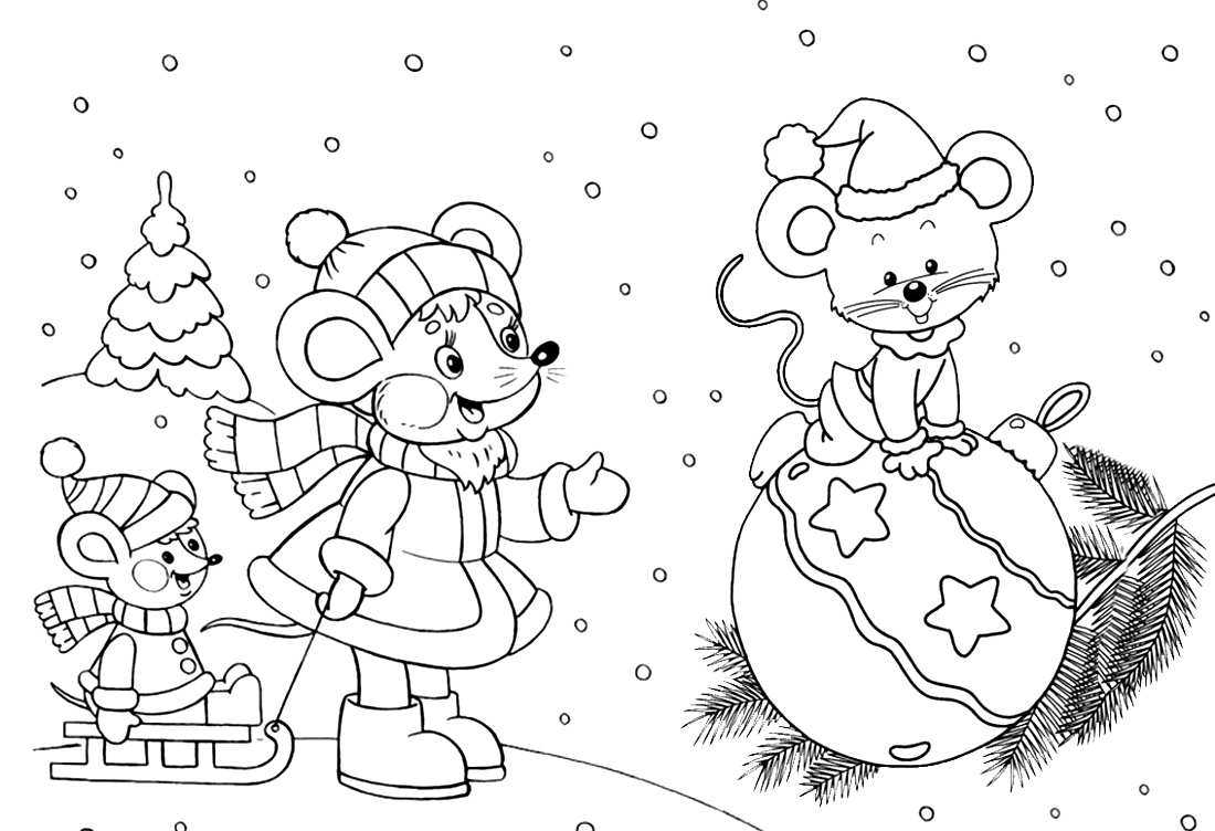 Coloring pages for kids 3-4 years. Download or print online