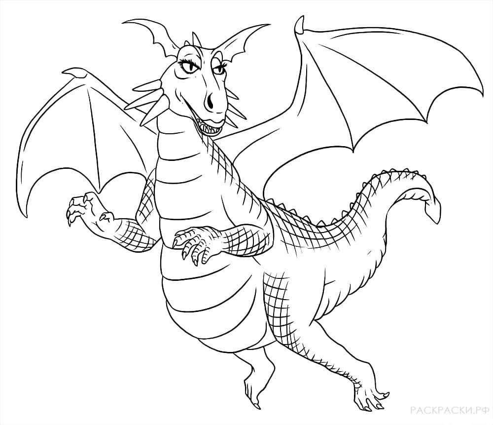 Раскраски Драконов. Распечатайте бесплатно на сайте!