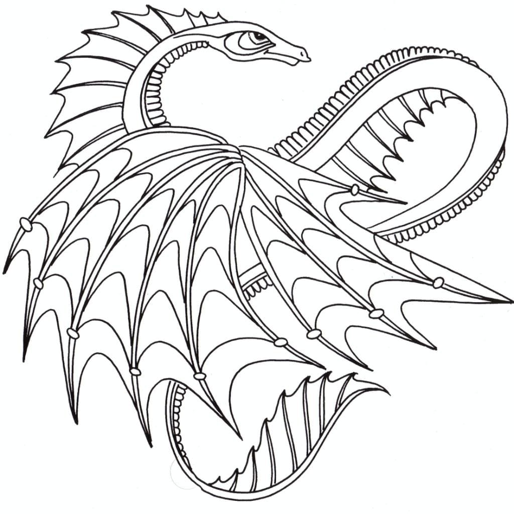 dragon coloring page free printable coloring pages - HD 1024×1024