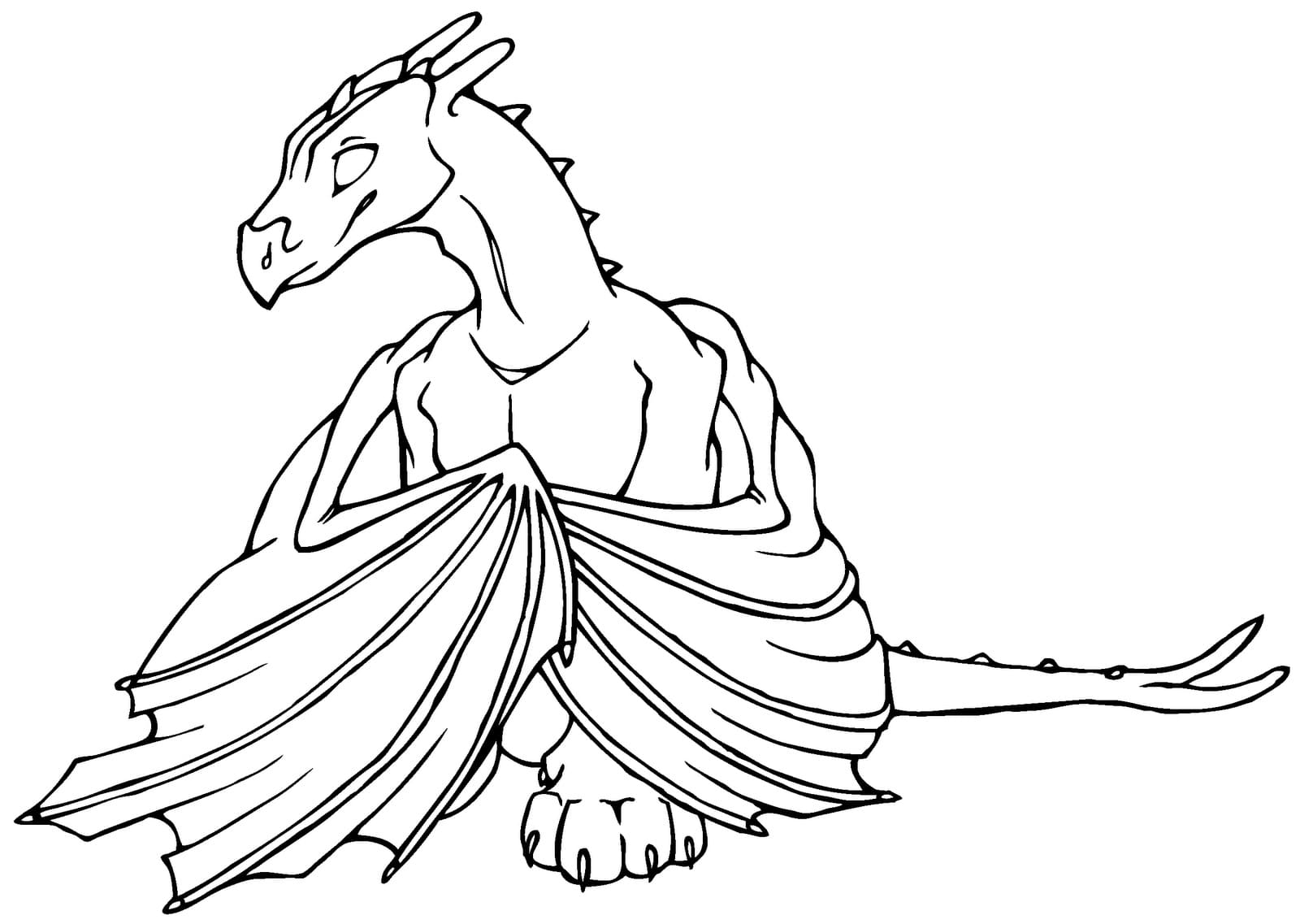 Dragões páginas para colorir. 100 imagens em preto e branco de graça