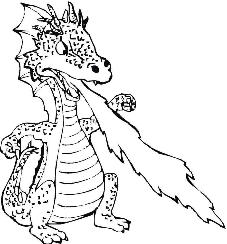dragon coloring page free printable coloring pages - 932×1000