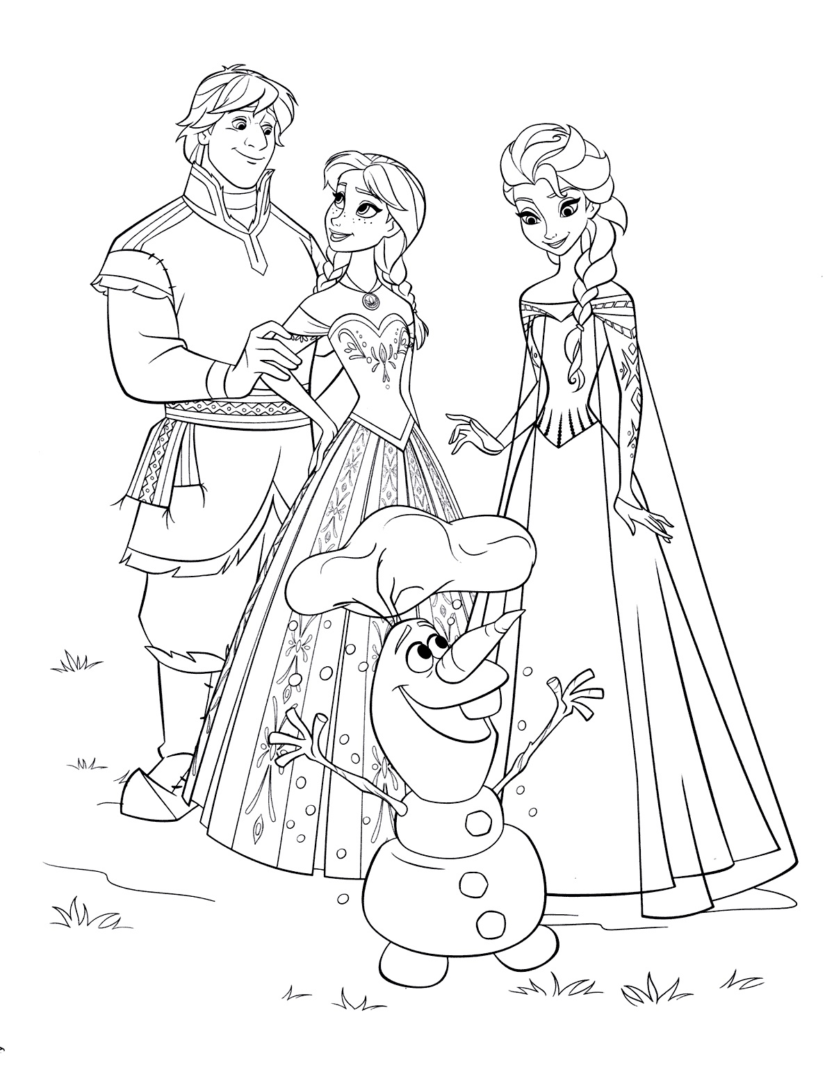 Coloring pages Elsa. Print for free for children, 60 pictures