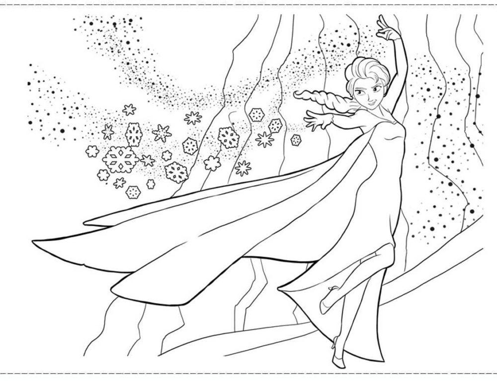 Ausmalbilder Elsa. Kostenlos drucken, 60 Bilder für Mädchen