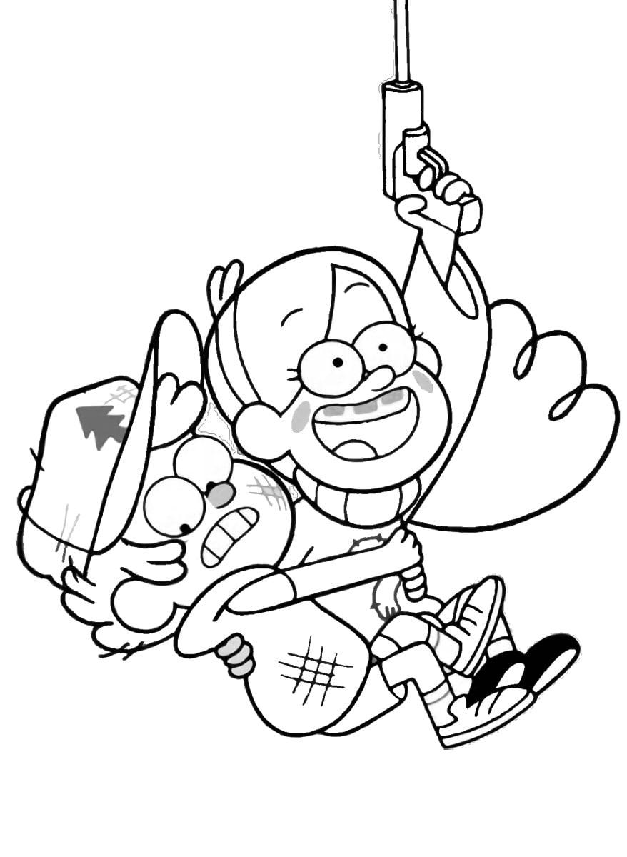 Gravity Falls coloring pages. Print all the characters