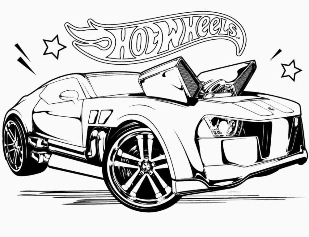 Ausmalbilder Hot Wheels. 70 Bilder zum kostenlosen Drucken