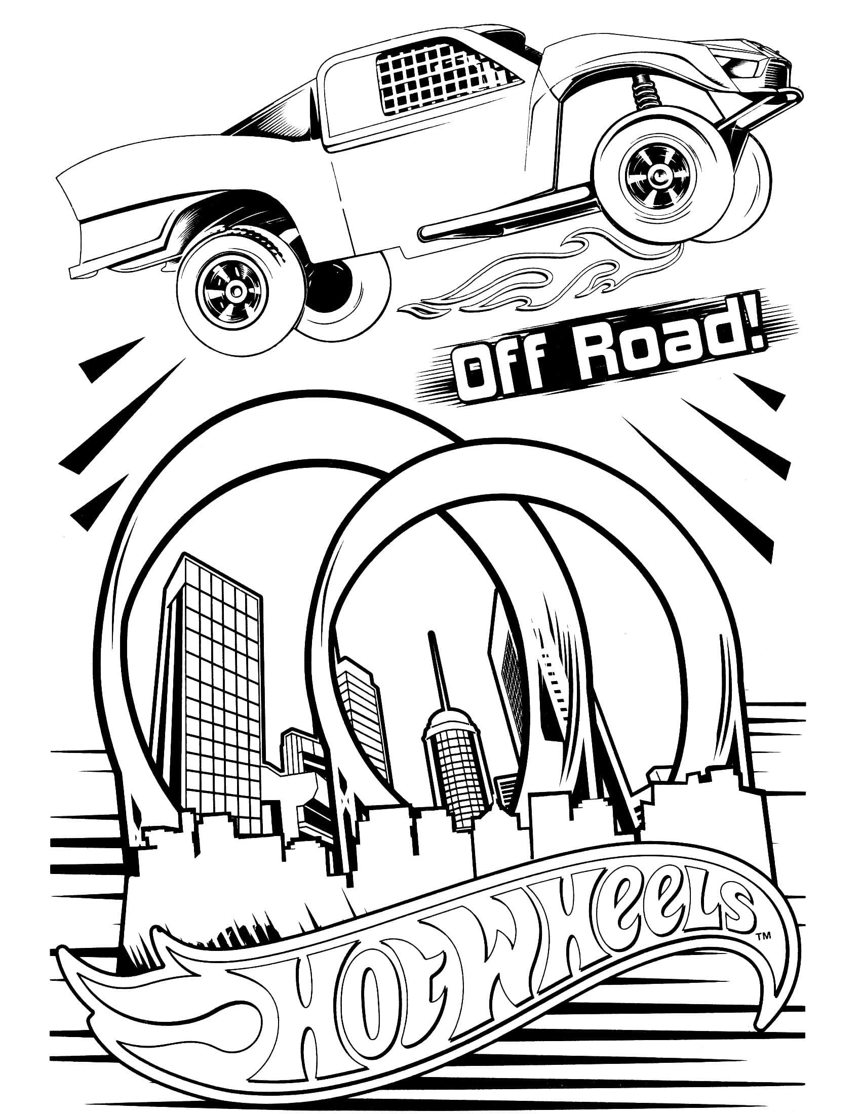 Раскраски Хот Вилс (Hot Wheels). Распечатайте бесплатно!