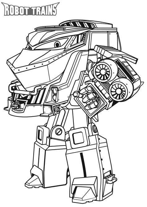 """Раскраски """"Роботы Поезда"""". Распечатайте онлайн для детей!"""