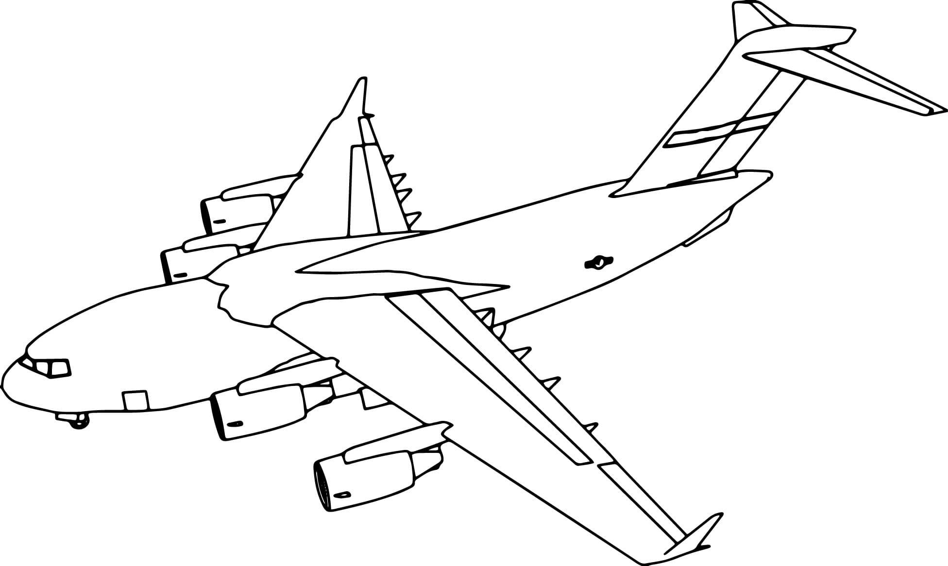 Картинки разукрашивать самолет