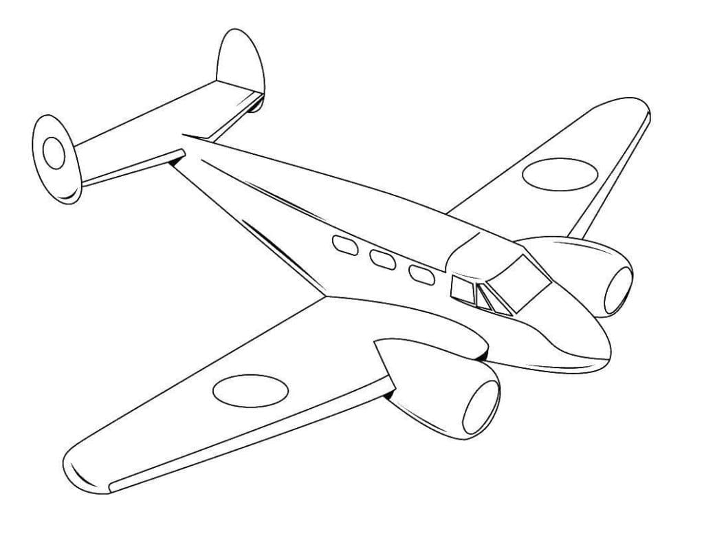 Картинка самолета шаблон